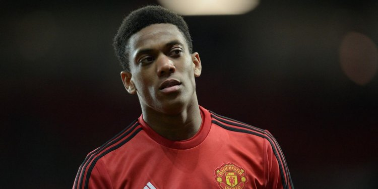 Anthony Martial appears to
