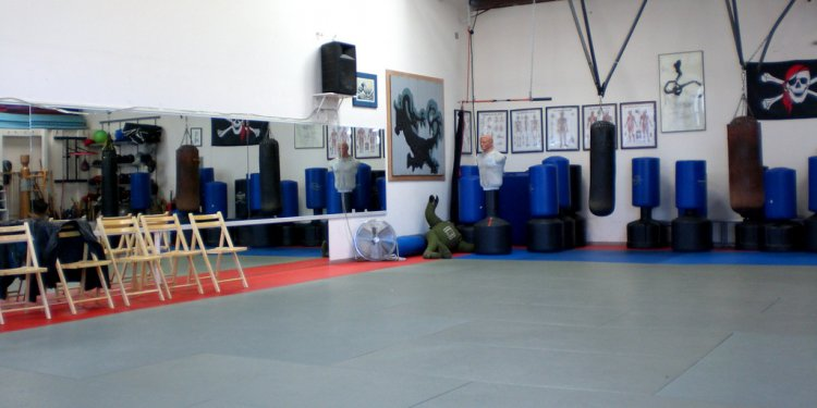 At the martial arts test