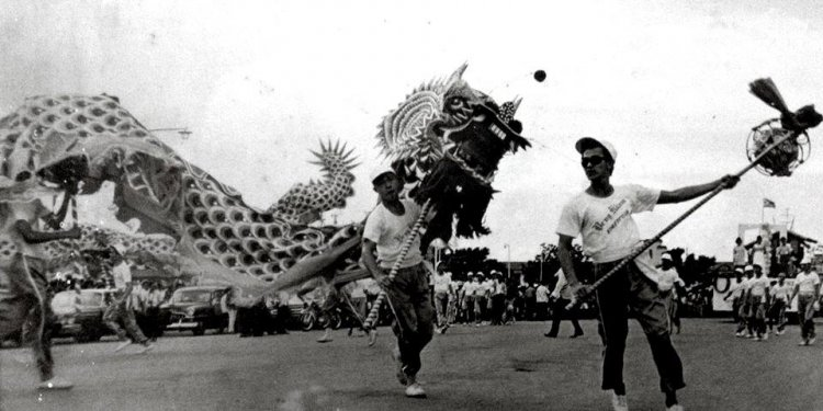 A Dragon Dance performed by