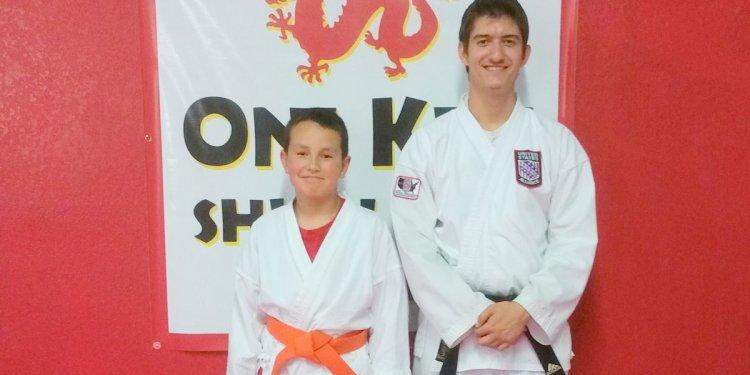 Karate student receives orange