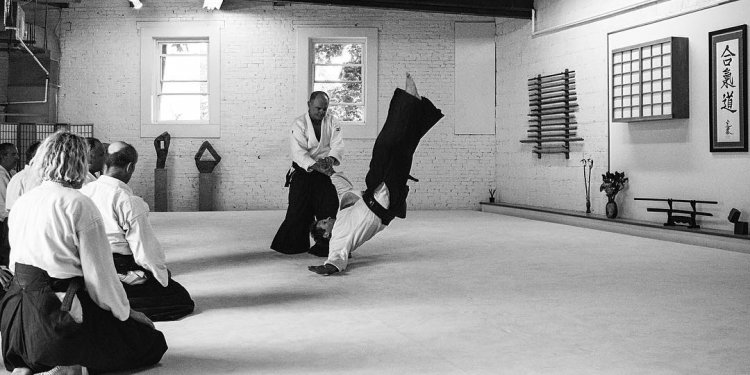 At Portland Aikido with an