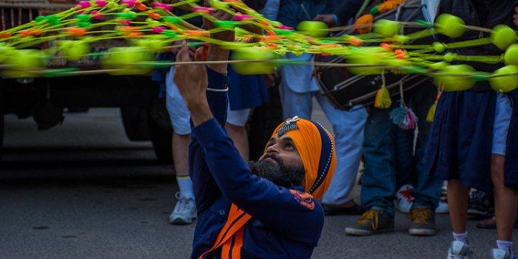 Sikh Playing Gatka