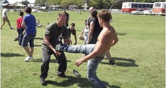 People practice Systema in Argentina