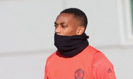 Pictures: Martial makes shock return to Man Utd training as mystery around absence grows